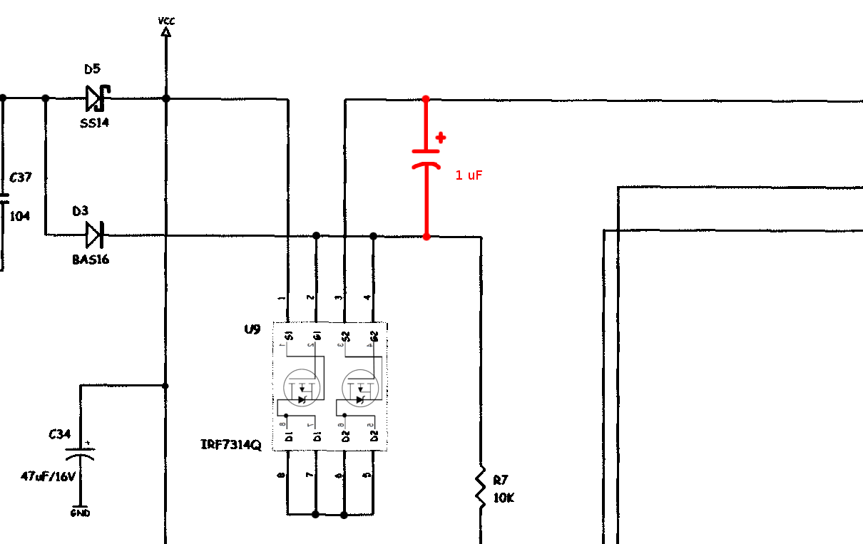 Bitscope Nothing To See Here Usb Oscilloscope Schematic A 1 Uf Capacitor Is Connected Between Vbus And The Gate Of Fet